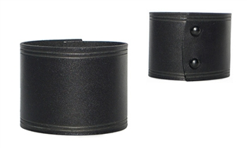"2"" Wide Black Leather Cuff"