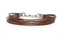 8 Strand Brown Leather Cord Bracelet