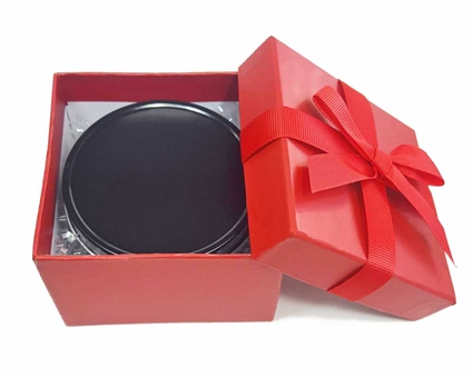 SMALL Red Gift Box With Black Gift Tin