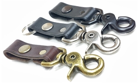 Leather Swivel Clip Key Chain | Lucky Dog Leather