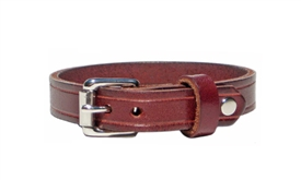"1/2"" Wide BURGUNDY RED Leather Bracelet"