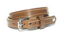 "1/2"" Crazy Horse TAN Leather DOUBLE WRAP Bracelet"