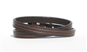"3/8"" Skinny BROWN Leather DOUBLE WRAP Bracelet"