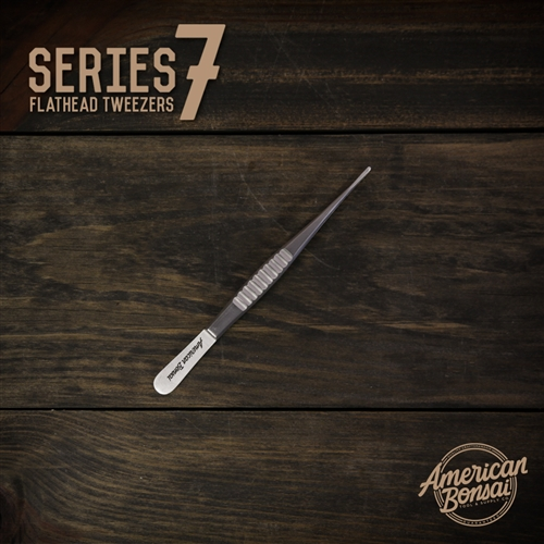 CUSTOM American Bonsai Stainless Steel Flathead Tweezers: Series 7(Needle Removal)