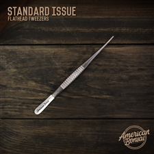 CUSTOM American Bonsai Stainless Steel Flathead Tweezers: Standard Issue(Needle Removal)