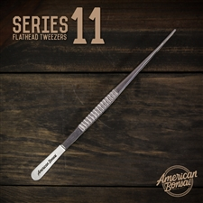 CUSTOM American Bonsai Stainless Steel Flathead Tweezers: Series 11(Needle Removal)
