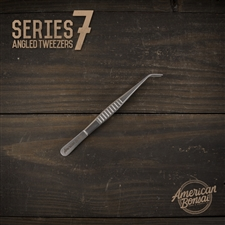 American Bonsai Stainless Steel Angled Tweezers: Series 7