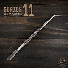 American Bonsai Stainless Steel Angled Tweezers: Series 11