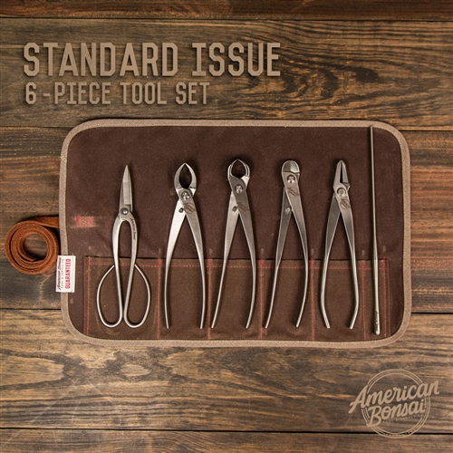 American Bonsai Stainless Steel Standard Issue Tool Set: 6 Piece