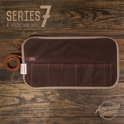 American Bonsai Waxed Canvas Tool Roll: 7 Slots - Series 7