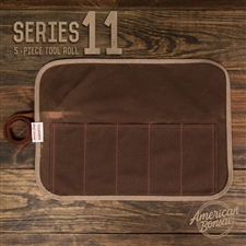 American Bonsai Series 11 Waxed Canvas Tool Roll: 5 Slots