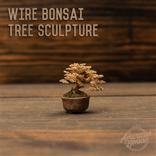 American Bonsai Ken To Wire Bonsai Tree Sculpture