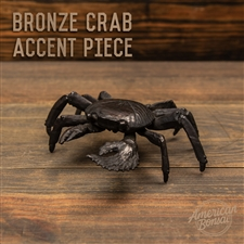 "American Bonsai Bronze ""Big Claw"" Crab Accent Piece"