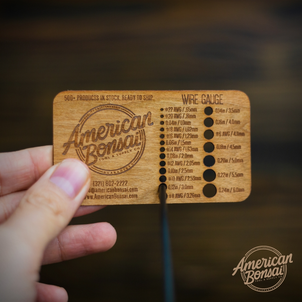 American Bonsai Aluminum Copper Wire Gauge Card