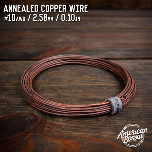 American Bonsai #18 AWG (1.02mm) Annealed Copper Bonsai Training Wire - 50 ft