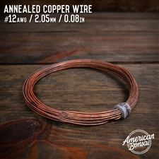 American Bonsai #16 AWG (1.29mm) Annealed Copper Bonsai Training Wire - 50 ft
