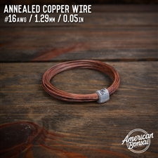 American Bonsai #14 AWG (1.62mm) Annealed Copper Bonsai Training Wire - 50 ft