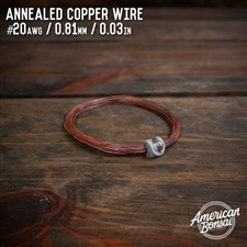 American Bonsai #12 AWG (2.05mm) Annealed Copper Bonsai Training Wire - 50 ft