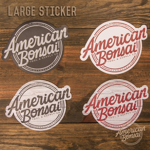 American Bonsai Large Sticker