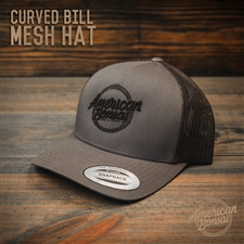 American Bonsai Mesh Hat Curved Bill: Dark Grey