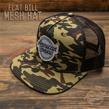 American Bonsai Mesh Hat Flat Bill: Camo
