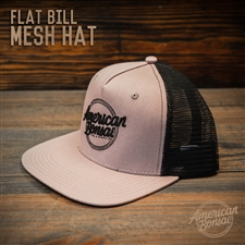 American Bonsai Mesh Hat Flat Bill: Grey