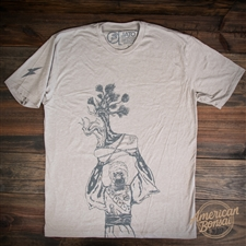 American Bonsai Raider T-Shirt - Stone Grey