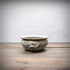 "Hand Thrown Bonsai Pot: 5.25"" x 2.5"""
