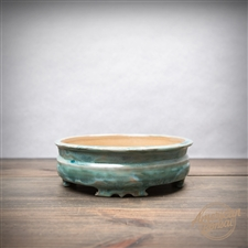 "Hand Thrown Bonsai Pot: 7.5"" x 2"""