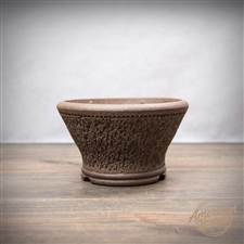 "Hand Made Bonsai Pot: 5.25"" x 2.5"""