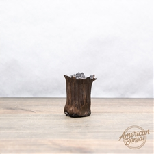 "Hand Made Accent Pot: 2"" x 1.75"" x 2.5"""