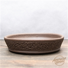 "Hand Thrown Bonsai Pot: 7"" x 1.5"""
