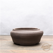 "Hand Thrown Bonsai Pot: 4.75"" x 2"""