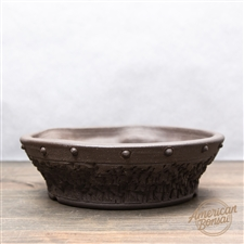 "Hand Thrown Bonsai Pot: 8.25"" x 2"""