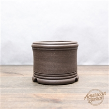 "Hand Made Bonsai Pot: 4.25"" x 3.25"""