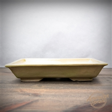 "Hand Thrown Bonsai Pot: 10"" x 6.75"" x 1.5"""
