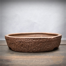 "Hand Thrown Bonsai Pot: 8.25"" x 1.5"""