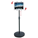 Height Adjustable Tablet Stand with Weighted Base