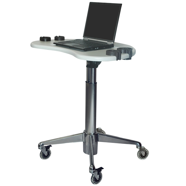 ultrasound laptop cart with 18 inches of height adjustment. Black Bedroom Furniture Sets. Home Design Ideas