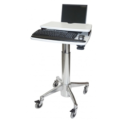 Laptop Cart with Laptop Riser Keyboard Wrist Rest
