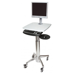 Monitor Cart with Mouse and Keyboard Tray