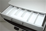 Removable drawer insert with 6 compartments
