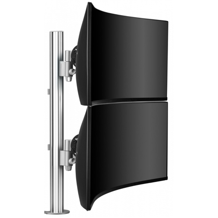 Dual Vertical Widescreen Mount for Large and Curved Displays