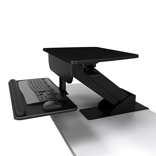 sit stand desk for 1 to 3 monitors clamp mount - Sit Stand Desk