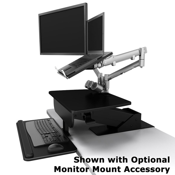 Sit Stand Desk For 1 To 3 Monitors Clamp Mount