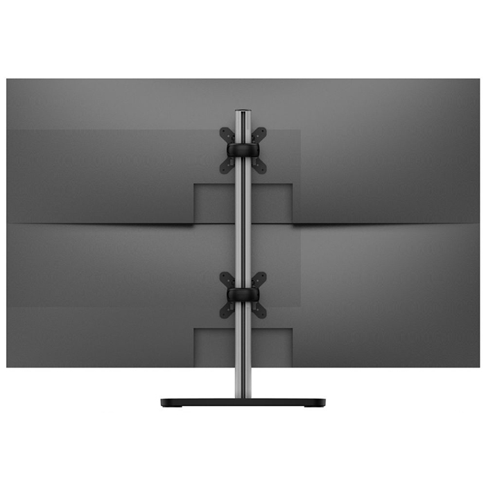 Dual Monitor Stand For The Desk Vertical Up To 25 Inch