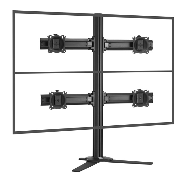 KONTOUR Quad Monitor Stand for 4 Monitors (up to 27 inch