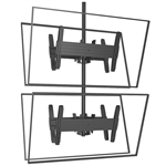 FUSION Quad Vertical Ceiling Mount - 4 Monitor Video Wall for 32 to 60 inch Screens
