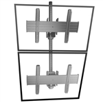 FUSION Dual Vertical Ceiling Mount - 2 Monitor Video Wall Mount for 40 to 55 inch Screens up to 125 lbs.