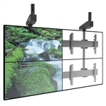 FUSION Large TV Ceiling Mounts - 4 Monitor Video Wall Mount